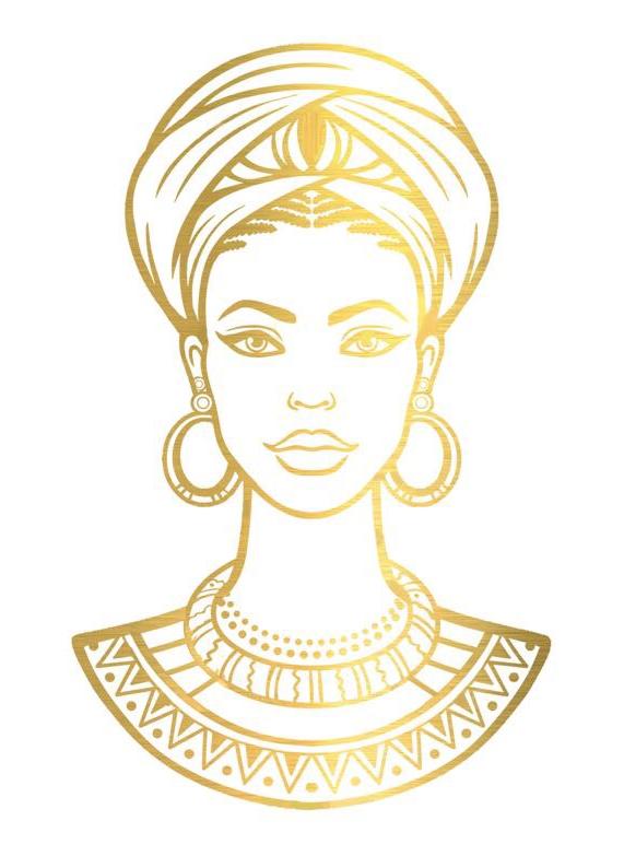Gold beauty African queen