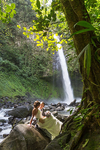 Waterfall and Raiforest Weddings in Costa Rica