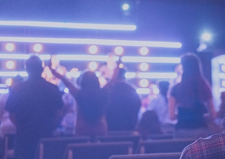 people worshipping together in our church community