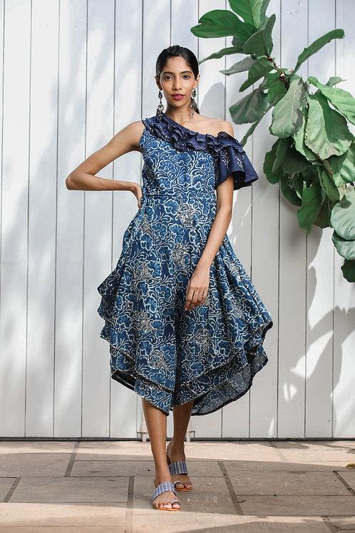 Assymetrical One Shoulder Dress