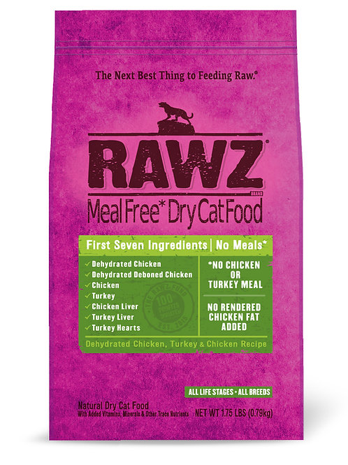 ラウズ ディハイドレイテッドチキン、ターキー & チキンレシピ CAT 790g