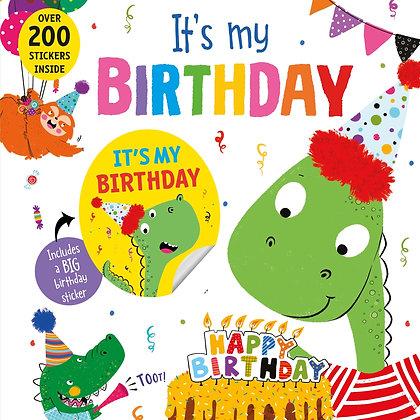 Dinosaur Birthday Book + Stickers