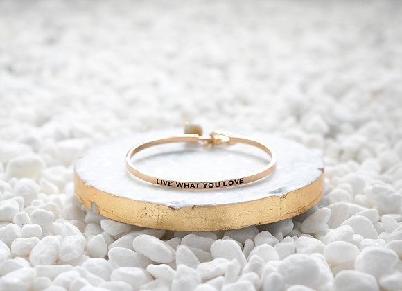 Mantra Cuff Bracelet