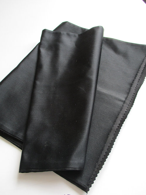 Obi fabric - Fukuro Obi - Plain/Lining - Silk - Upcycle - Black