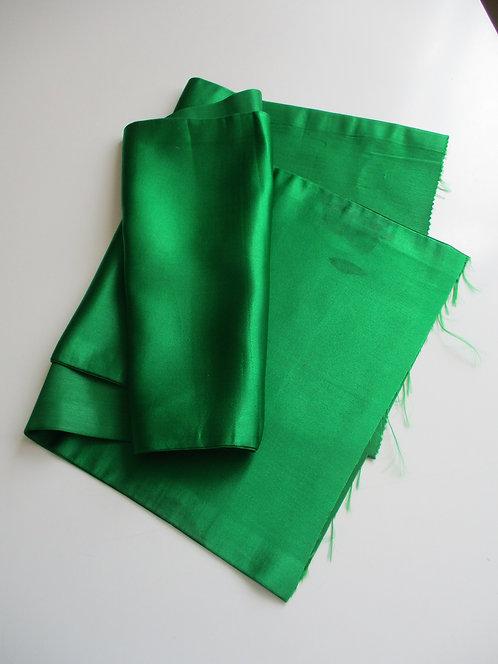 Obi fabric - Fukuro Obi - Plain/Lining - Silk - Upcycle - Green