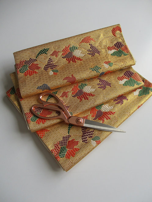 Obi fabric - Fukuro Obi - Silk - Upcycle - Pastel shades - Used