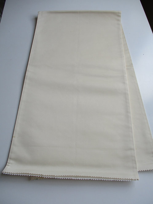 Obi fabric - Fukuro Obi - Plain/Lining - Silk - Upcycle - Cream