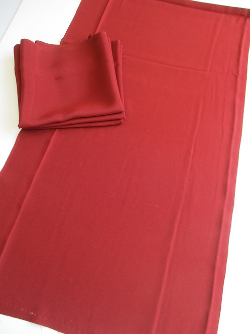 Kimono lining fabric - Upcycle - Silk - Dark Red - Used Fabric