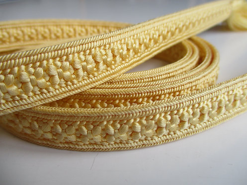 Obijime - Belt - Japanese accessories - 156 x 1.4 cm -Yellow butter - Used