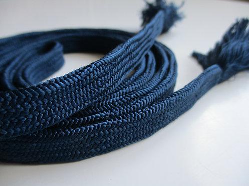 Obijime - Belt - Japanese accessories - 155 x 1.2 cm - Blue - Used