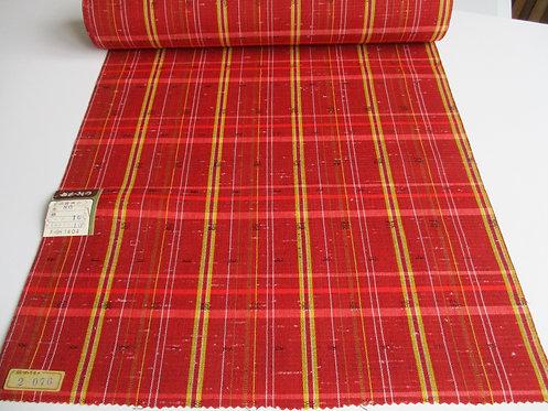 Kimono fabric - Wool/Mix - Stripes - Red, yellow, black and white