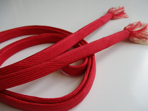 Obijime - Belt - Japanese accessories - 151 x 1.1 cm - Pale Red - Used