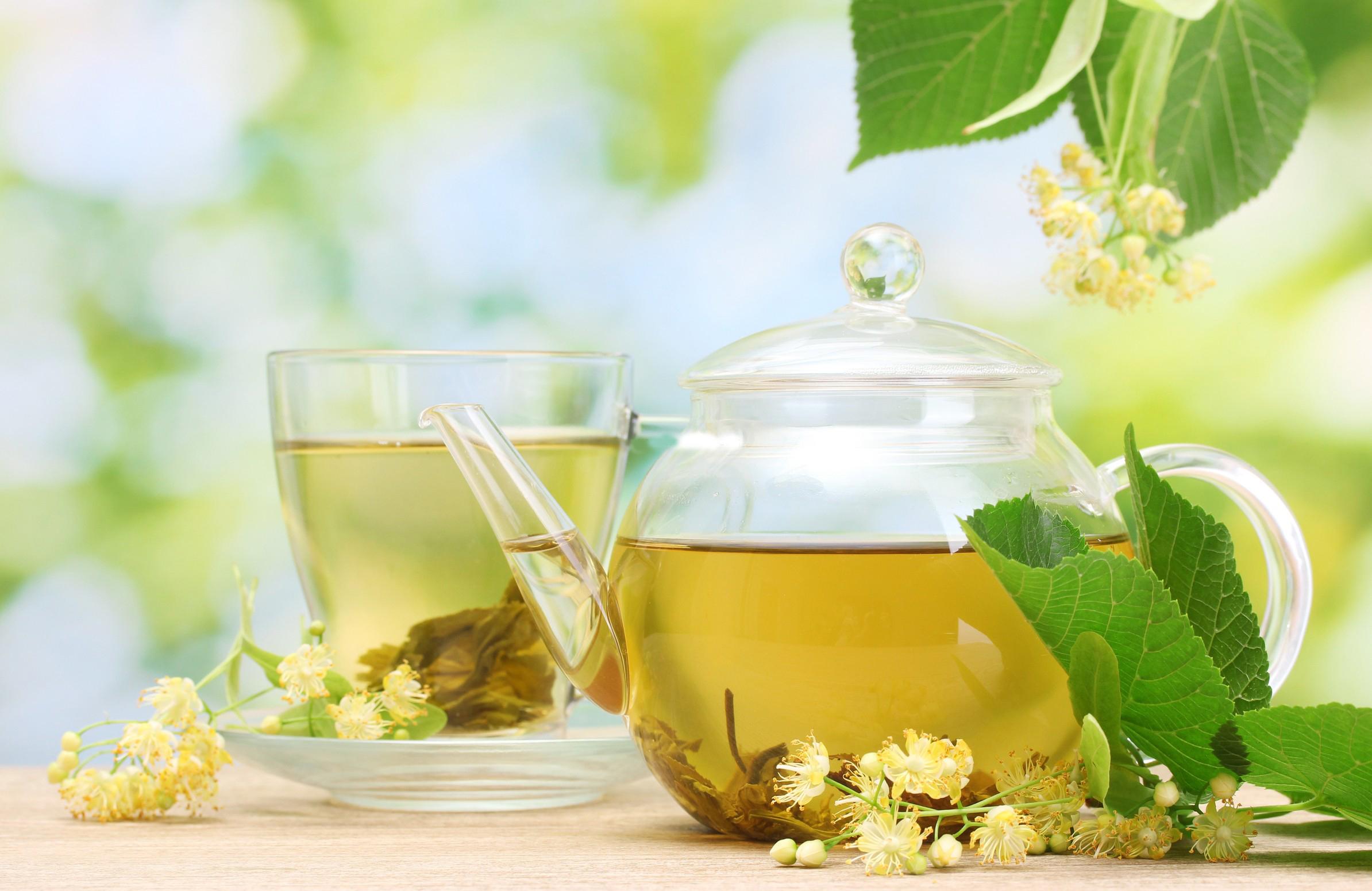 Herbal tea serving