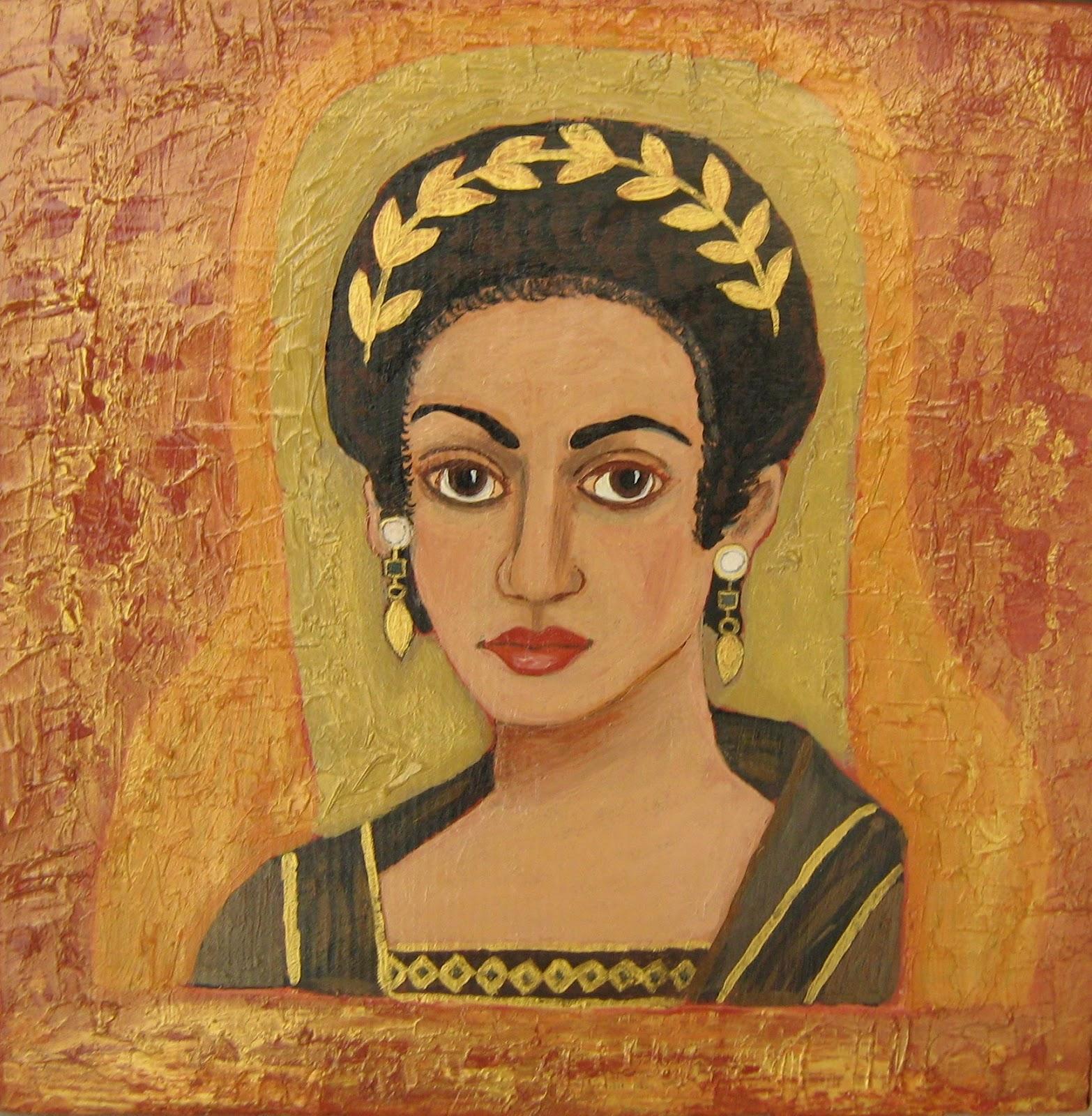 Fayioum portrait on ceramic