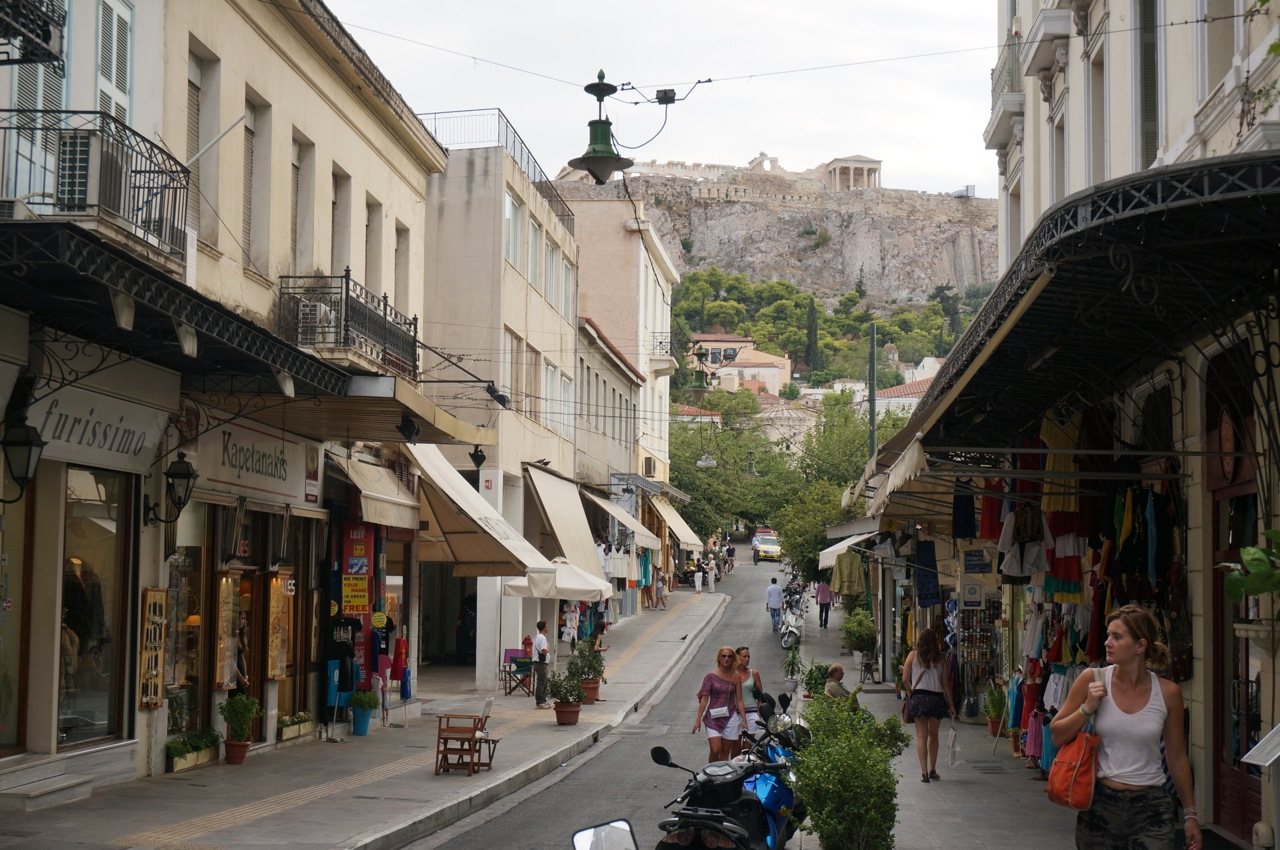 Street view to Acropolis