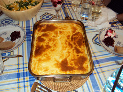 Greek home-cooked moussaka