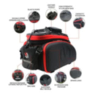 35L Bike Trip Traveling Trunk Bag  with Waterproof cover