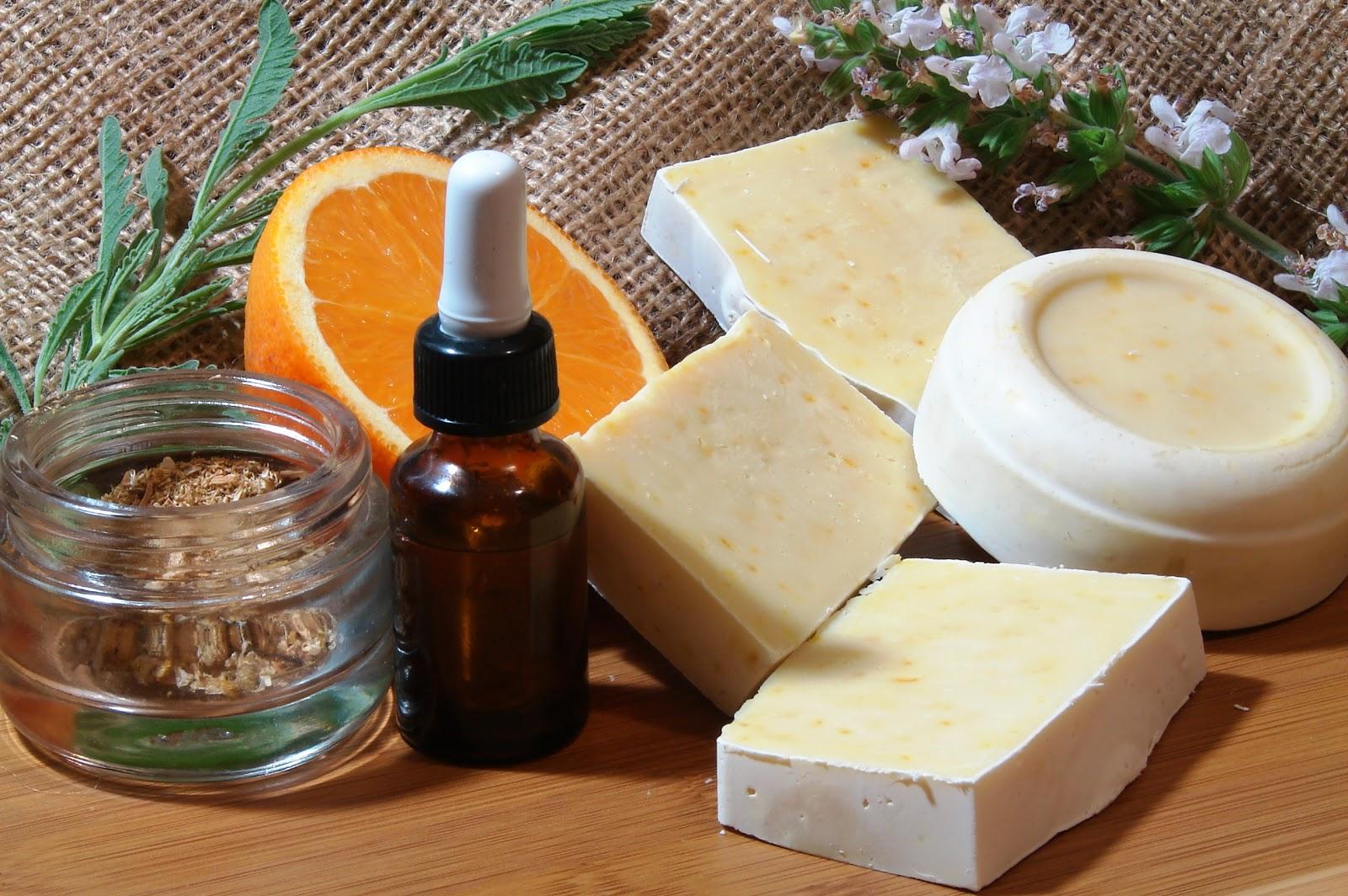 Handmade soap with orange