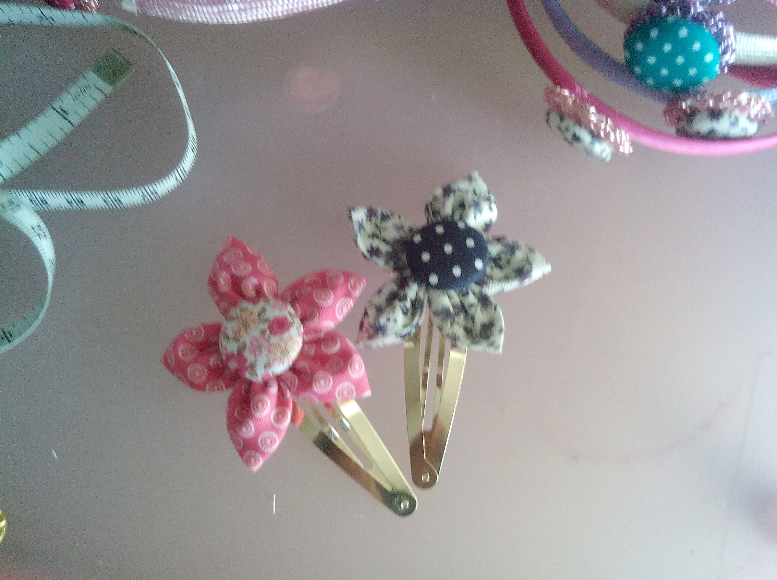 Embroidered hairclips
