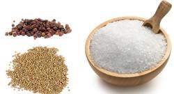 Salt, peper, coliander from Messolonghi