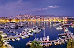 Piraeus at dusk