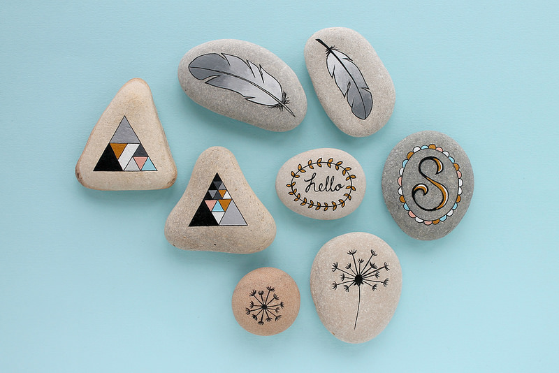 Beach Pebbles Painted