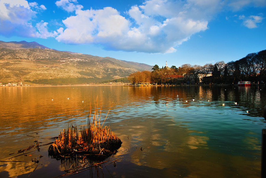 Ioannina lake sunset