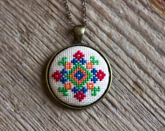 Embroidered medallion