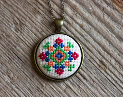 Embroidered medallion