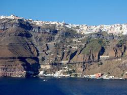 Panoramic view of Fira