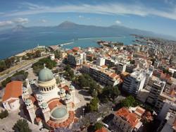 Patras aerial view