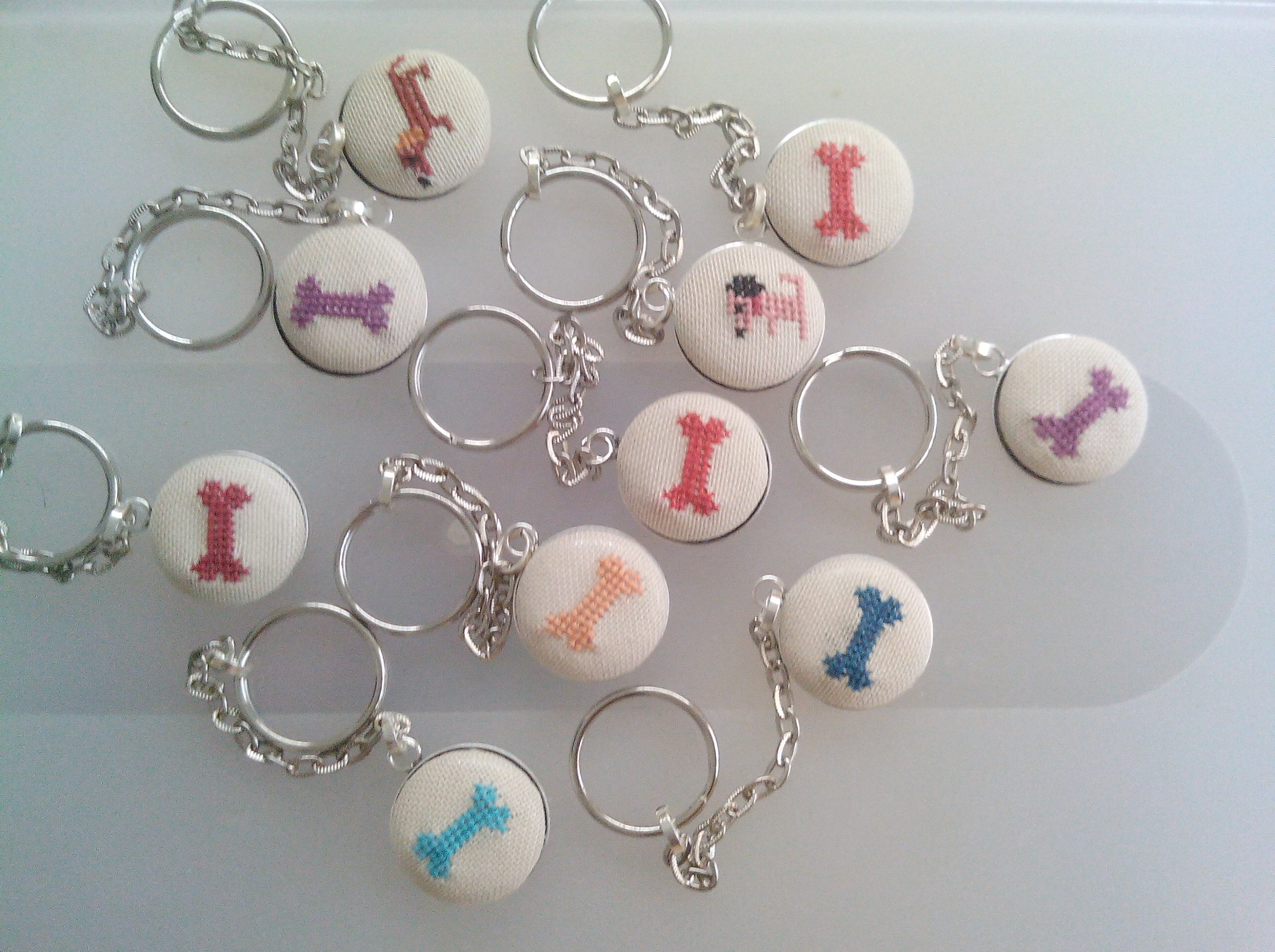 Embroidered  keyrings