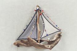Wood sailing boat