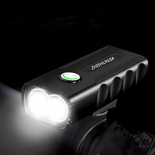 3-Mode LED Flashlight USB Rechargeable Bicycle Lamp