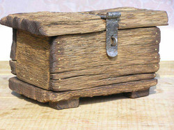 Hand-made wooden box