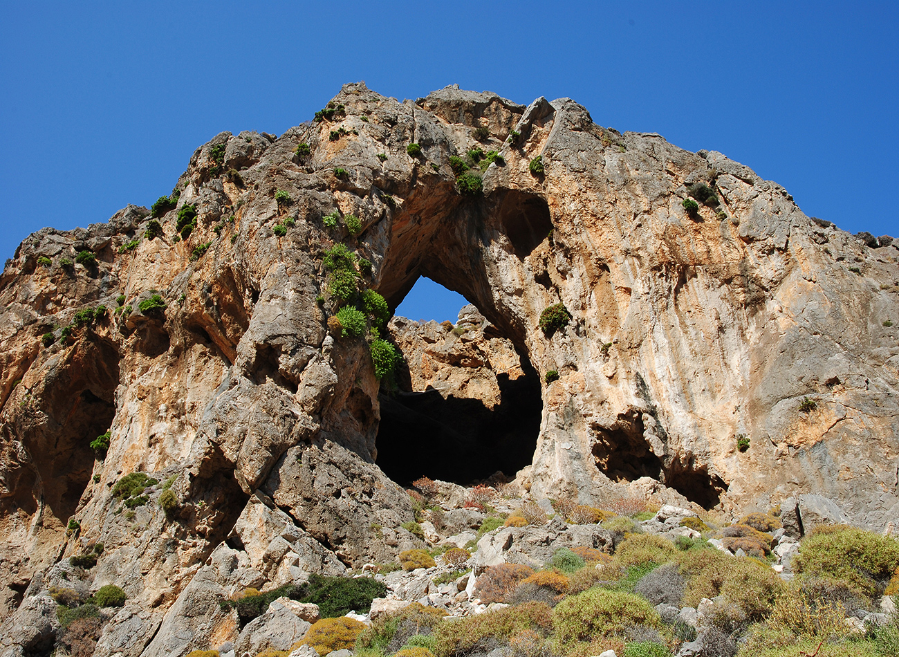Rock formations in the geopark