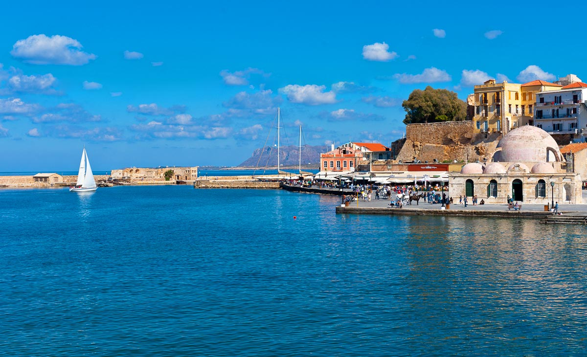 The Chania harbour