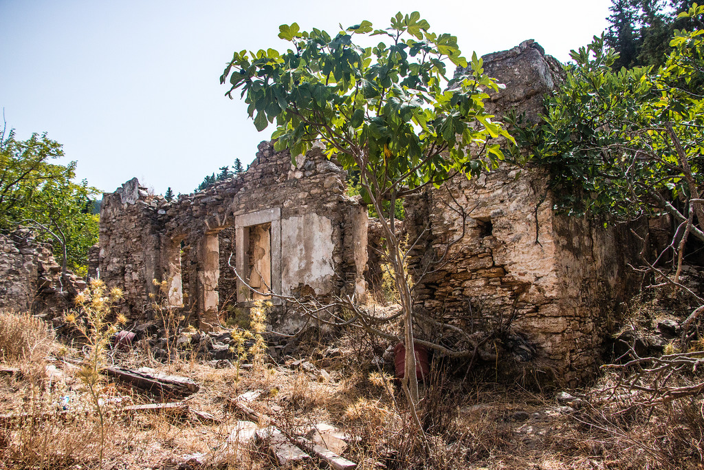 Remnants of a house