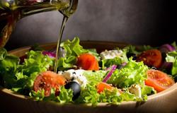 Olive oil in greek salas