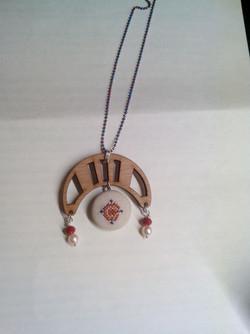 Embroidered jewel