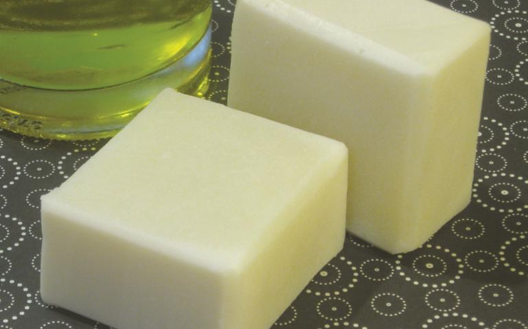 Natural soap from olive oil