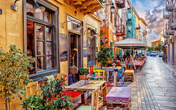 Nafplio cobbled streets & venetian houses