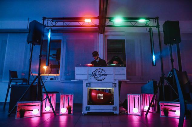 Beleuchtung und Musik