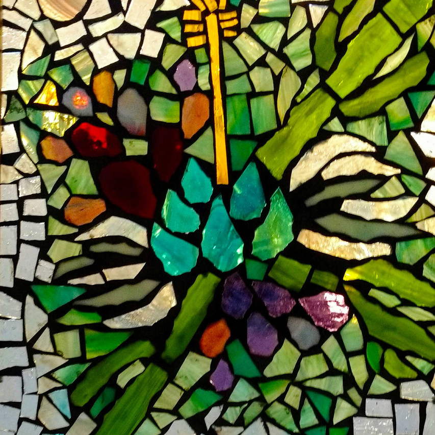 """""""Kaleidoscope Cactus Series"""" Stained Glass Mosaic by Grace Rhyne"""