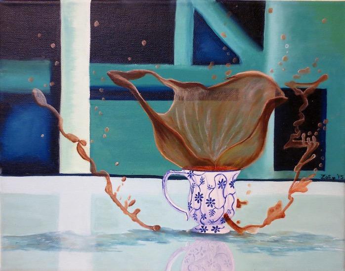 """Splash!"" by Zoe Rhyne (Oil on Canvas)"