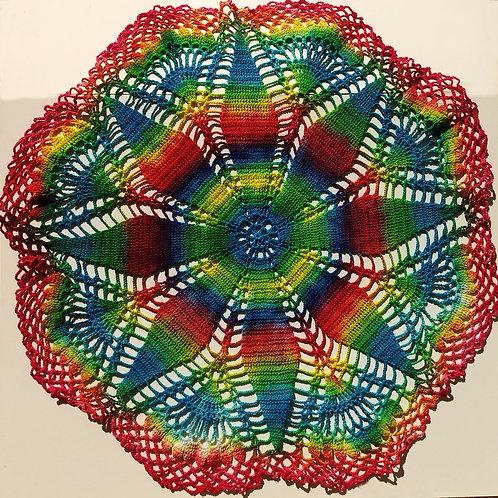 Tie Dye Table Doily