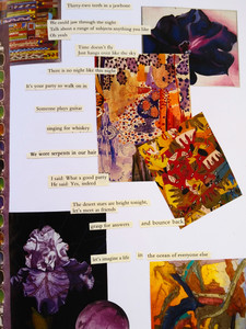 Sketchbook: Collage and Recycled Poetry Page