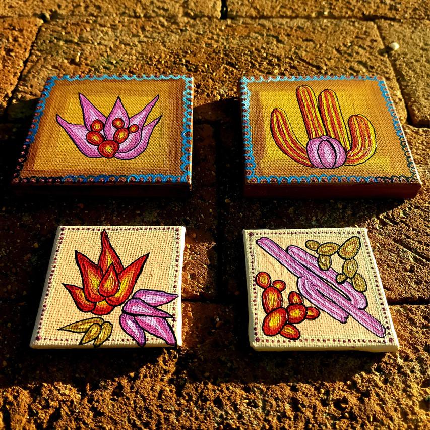 """Cactus Honey Darling Series"" Acrylic on Canvas by Grace Rhyne"
