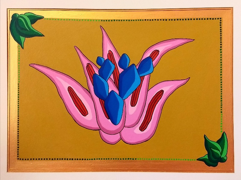 """""""Agave Obsession, Honey Golden Sunshine Glow, Pure Love"""" Acrylic on Paper by Grace Rhyne"""
