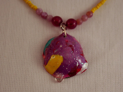 Acrylic Paint Goober Necklace #3